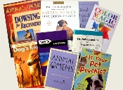 An assortment of books about natural pet care, holistic therapies and new ideas to improve life for your pets and for you!