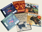 Assorted CDs and DVDs so you can learn more, relax more and enjoy your pets more! ;)